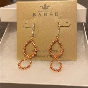 Barse Sterling Silver Earrings, Rose Gold